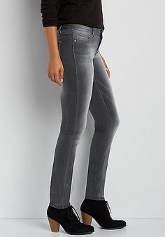 DenimFlex™ SuperSoft jegging in charcoal | maurices