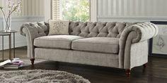Buy Gosford Buttoned Small Sofa (2 Seats) Antique Velvet Dark Mink Low Turned - Standard   Next