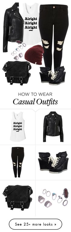 """""""Casual Outfit"""" by grungeunicorn88 on Polyvore featuring TKO Tees, River Island, Witchery, Ash and David King & Co."""