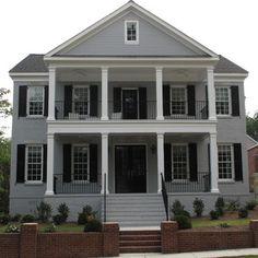 Benjamin moore exterior grays google search curb for Custom home builders birmingham al