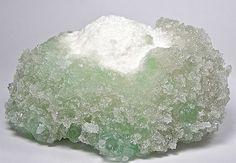 Green Apophyllite on Mordenite Ball Druzy от FenderMinerals Gems And Minerals, Crystal Ball, Exotic, Amethyst, Rocks, Texture, Gemstones, Crystals, Natural