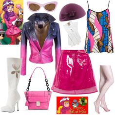 Such amazing attention to detail in this incredible #outfit for the #Cartoon Character #fashion challenge. Penelope Pitstop, the girly-girl of cartoon heroes.