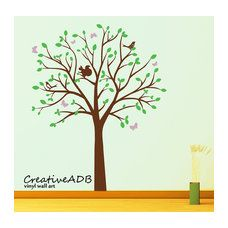 Kids wall sticker vinyl decal tree with birds by creativeadb Big Girl Bedrooms, Girls Bedroom, Vinyl Wall Decals, Wall Sticker, Butterfly Kids, Tree Decorations, Kids Playing, Playroom, Etsy