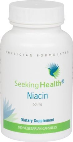 Niacin | Provides 50 mg of Niacin in an easy-to-swallow vegetarian capsule | Vitamin B3 | Free of Magnesium Stearate | 100 Vegetarian Capsules | Non-GMO | Physician Formulated | Seeking Health -- Details can be found by clicking on the image.