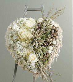 #uitvaart decoratie in #hartvorm