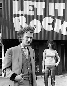 Malcolm McLaren as a teddy boy in March 1972