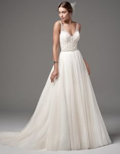 @Bellethemagazine wedding dresses | Sottero and Midgley Spring 2017 | Floor Ivory A-Line V-Neck $$ ($1,001-2,000)