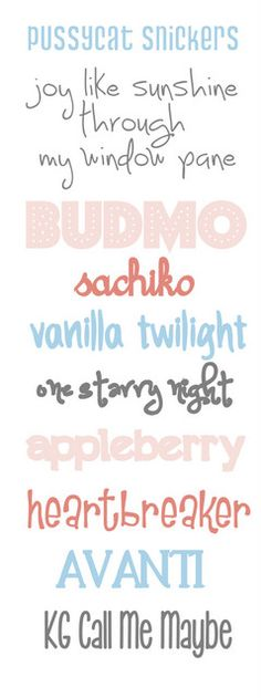 Free Font Collection - now I just need to figure out how to get it into Word Funky Fonts, Cute Fonts, Pretty Fonts, Lalaloopsy, Hand Lettering, Typography Fonts, Clipart, Cricut Fonts, Creations