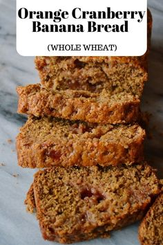 If you're tired of plain old Banana bread, this Orange Cranberry Bread Recipe is for you! Such a delicious spin on Banana Bread and perfect for holidays! Fall Dessert Recipes, Fall Desserts, Breakfast Recipes, Loaf Recipes, Banana Bread Recipes, Best Homemade Bread Recipe, Homemade Breads, Non Chocolate Desserts, Cranberry Bread