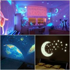 Creative wall paintings that glow in the dark