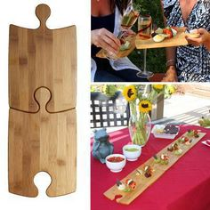 Bamboo puzzle party platter