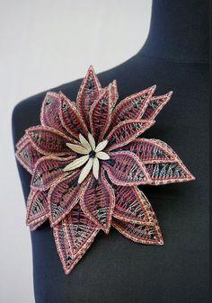 Milhoja Doily Art, Bobbin Lacemaking, Bobbin Lace Patterns, Lace Heart, Lace Jewelry, Needle Lace, Lace Making, Crochet Flowers, Weaving