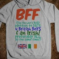 BFF - The One Who is Plotting to Date 4 British Boys and an Irish - Connected Universe - Skreened T-shirts, Organic Shirts, Hoodies, Kids Tees, Baby One-Pieces and Tote Bags