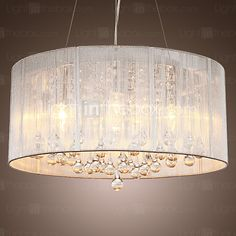 Lamp: Light In The Box Modern Crystal Pendant Light In Cylinder Shade Pendant Light Chandeliers Lighting For Bedroom Living Room Drum Style Home Ceiling Light Fixture Flush Mount from The Capiz Shell Chandelier And Its Geometric Pattern Ceiling Light Shades, Ceiling Light Fixtures, Ceiling Pendant, Ceiling Lamp, Pendant Lamp, Ceiling Lights, Fabric Ceiling, Shell Pendant, Capiz Shell Chandelier