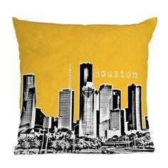 DENY Designs Bird Ave Houston Yellow Throw Pillow   Pure Home