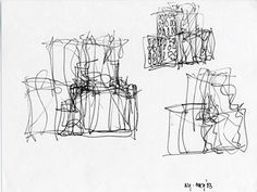 An early sketch by Frank Gehry of the IAC building, from May 2003.