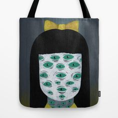 """bright monsters II"" Tote Bag by Ally Burke on Society6."