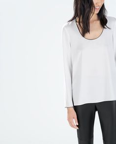 zara woman combined office. Image 1 Of LONG-SLEEVED TOP From Zara | W E A R M E. Pinterest Top Manga Woman Combined Office