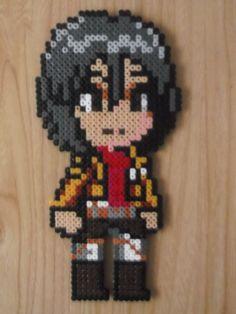 Mikasa Perler beads by CrazyHamaGuyBeads on Etsy