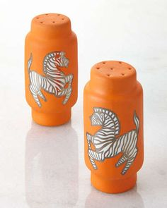 H7H4Q Waylande Gregory Zebra Salt & Pepper Shakers