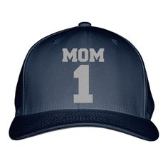 Number One Mom Embroidered Baseball Cap