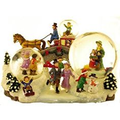 San Francisco Music Box Company - Home For the Holidays Water Globe - Assorted Tunes