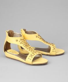 Take a look at this Yellow Dottie Sandal by Melton on #zulily today!