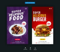 Discover thousands of Premium PSD available in PSD and JPG formats Food Web Design, Food Graphic Design, Food Poster Design, Menu Design, Food Instagram, Instagram Story, Restaurant Poster, Menu Flyer, Logos Retro