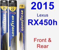 Front & Rear Wiper Blade Pack for 2015 Lexus RX450h - Hybrid