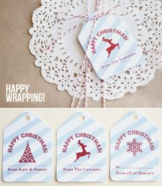 www.cocobluecreative.com Wrapping, Place Cards, Wraps, Place Card Holders, Paper, Creative, Christmas, Blue, Design