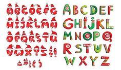 5 alfabetos vectoriales para navidad