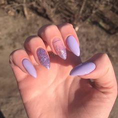 Almond Acrylic Nails, Summer Acrylic Nails, Best Acrylic Nails, Almond Nails, Summer Nails Almond, Pastel Nails, Purple Manicure, Nail Manicure, Manicures