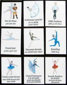 Ballet Bingo - Learn/Teach Ballet Steps and Positions - Ballerina Birthday Games