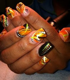 Geometric and africa nail art hey nice nails nailz twist of orange by tetteafrica nail art gallery nailartgalleryilsmag by prinsesfo Images