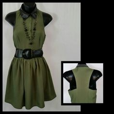 Womens Dress clearance itemPolyester, faux leather collar NWOT Dresses