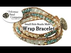 Make a Wrap Bracelet with Small Hole Beads Chan Luu Style) - YouTube free tutorial from The Potomac Bead Company. Potomac bead company has hundreds of tutorials on YouTube and tens of thousands of products (gemstones, crystals, glass, seed beads, pendants, silver, findings, tools & more) in retail bead stores and on TheBeadCo.com!