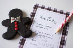 Host a Gingerbread Party - free Letter to Santa printable!
