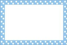 Sweet First Communion Free Printable Invitations, with Light Blue with White Polka Dots design . You can use this free printables fo. Borders And Frames, Borders For Paper, Free Printable Invitations, Free Printables, Care Bear Costumes, Dots Free, Baby Posters, Alphabet For Kids, Paper Frames