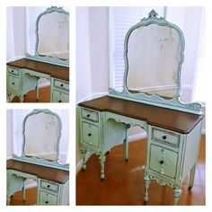 "VE Rentals: Our beautiful antique vanity dresser, ""Savannah."" Contact us to rent this timeless beauty for your upcoming wedding or event."