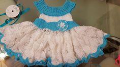 Knitting Videos, Crochet Videos, Toddler Dress, Baby Dress, Woolen Dresses, Crochet Baby Clothes, Crochet For Kids, Beautiful Crochet, Crochet Projects