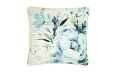 Francesca Pale Topaz Cushion at Laura Ashley Spare Room Office, Laura Ashley Home, Cottage Living Rooms, Childrens Room Decor, Decorative Cushions, Home Furnishings, Topaz, Interior Decorating, Interior Design