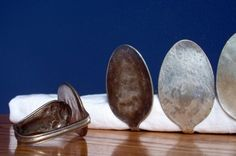 vintage spoon napkin rings