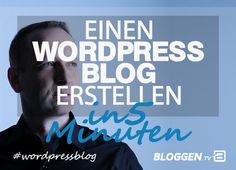 WordPress Blog erstellen in 5 Minuten – Schritt für Schritt Anleitung. Du möchtest deinen WordPress Blog erstellen in 5 Minuten oder schneller? In dieser Schritt-für-Schritt-Anleitung zeige ich wie es geht.  http://www.bloggen.tv/wordpress-blog/  #wordpressblog #bloggentv
