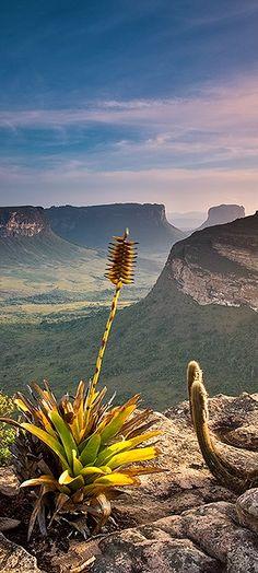 Parque Nacional da Chapada Diamantina, localizado na região central do estado da Bahia, Brasil.