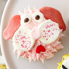 A sweet pink puppy will be a charming birthday treat: http://www.bhg.com/party/birthday/cake/animal-birthday-cakes-cupcakes-for-kids/?socsrc=bhgpin030914pinkpoodlecupdakes