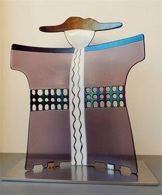 Yvonne Veen, Glinsterend glas, - Fused Glass Sculpture