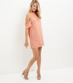 Shop Coral Ruffle Trim Plunge Cut Out Cold Shoulder Dress . Discover the latest trends at New Look. Out Cold, Ruffle Trim, New Dress, New Look, Latest Trends, Cold Shoulder Dress, Coral, Shopping, Fall Winter