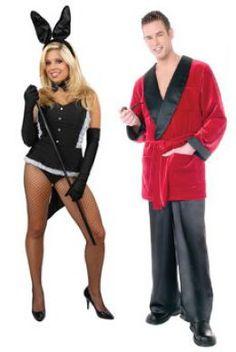 Hugh Hefner and the Playboy Bunnies_Couple's Halloween Costume