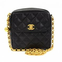 Chanel Black Quilted Leather Mini Shoulder Bag 115