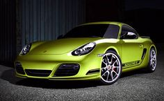 Porsche's bilious green Cayman R .. That's a dope green @ares650
